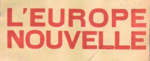 L Europe Nouvelle