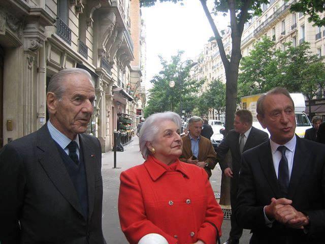 Claure Pierre-Brossolette, Anne Brossolette, le Maire de Paris Bertrand Delanöe