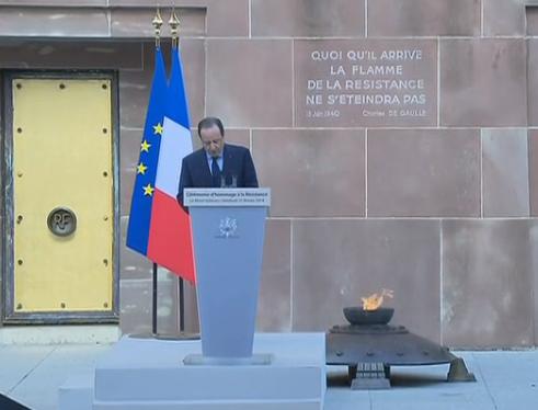 Discours de Francois Hollande au Mont Valerien