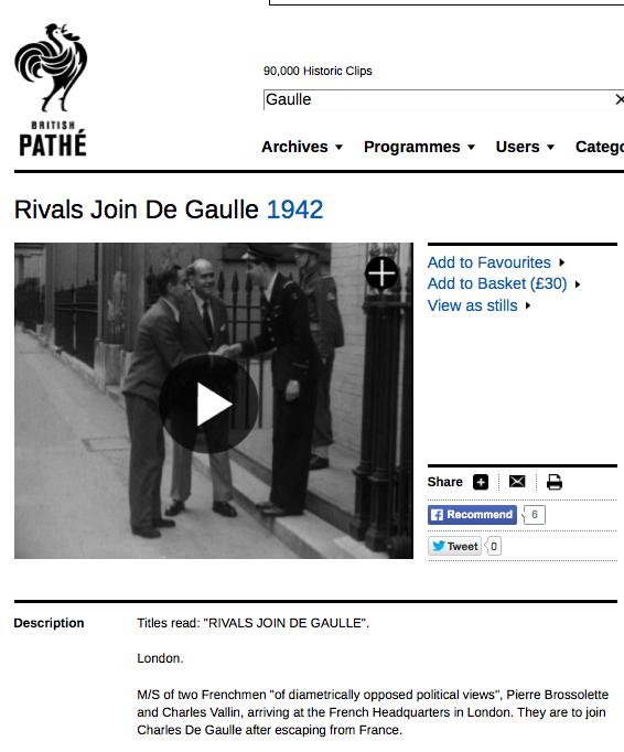 Pathe Rivals join De Gaulle