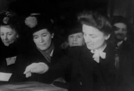 GILBERTE BROSSOLETTE VOTE EN 1944
