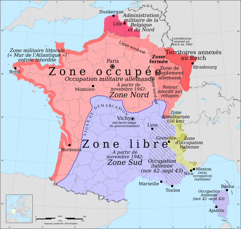 Regions france occupee etzone libre