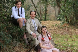 Pierre Brossolette et ses deux enfants Anne et Claude