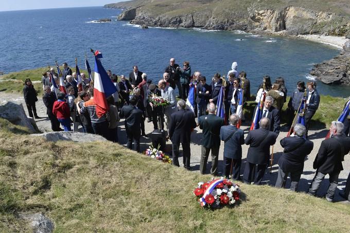 commemoration Plogos Pierre Brossolette e Honore d'Estienne d'Orves Bretagne