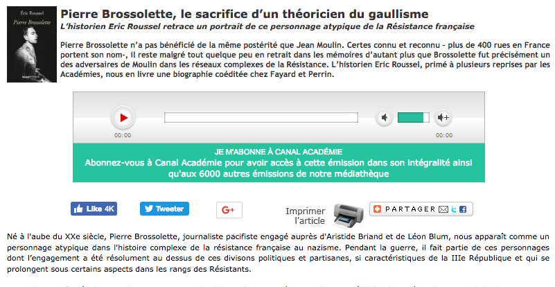 Pierre Brossolette, le sacrifice d'un théoricien du gaullisme