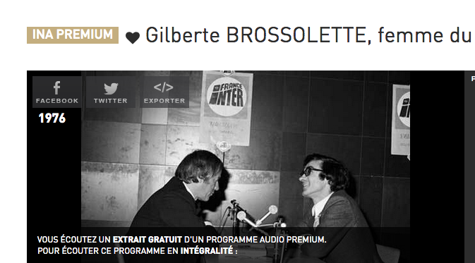 Jacques Chancel et Gilberte Brossolette